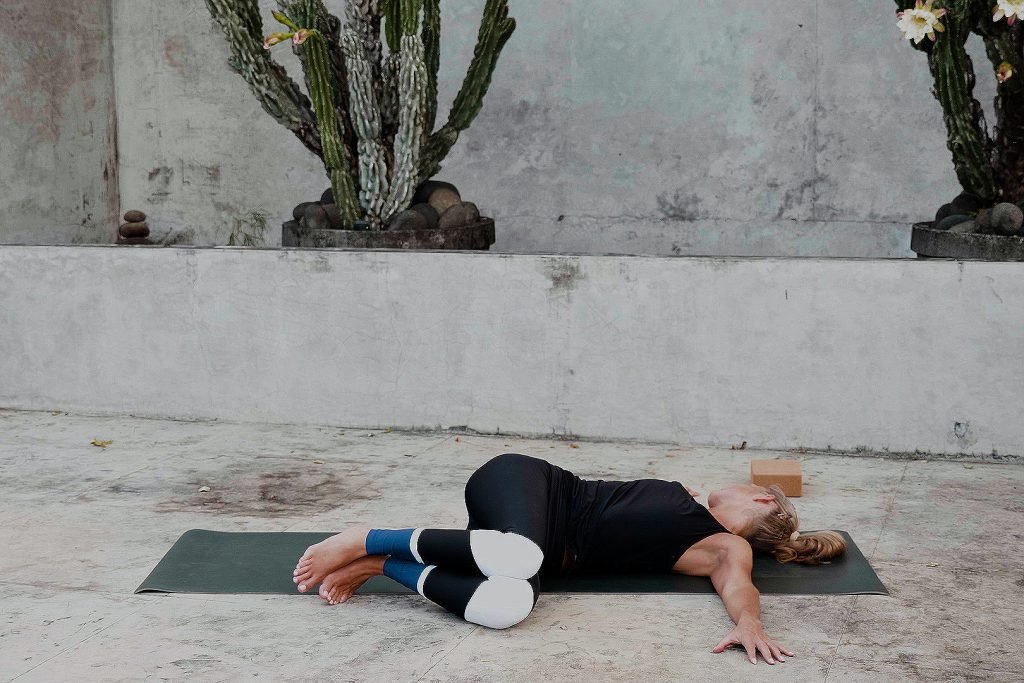 Reclining Spinal Twist—Stretch Lower Back